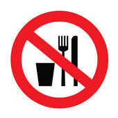 No food and drink sign — Stock Vector