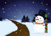Boneco de neve e o Natal — Vetor de Stock
