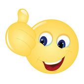 Emoticon thumbs up — Stock Vector