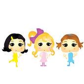 Cartoon girls — Stock Vector