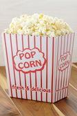 Fresh delicious popcorn — Stock Photo