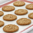 Stock Photo: Fresh baked oatmeal cookies