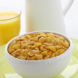 Stock Photo: Delicious corn flakes breakfast