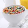 Delicious kids cereal loops — Stock Photo