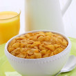 Stock Photo: Healthy corn flakes breakfast