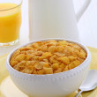 Stok fotoğraf: Healthy corn flakes breakfast