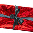 Stock Photo: Red gift box on a white background