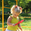 Cute little girl having fun on a playground — Stock Photo #30147703