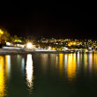 Night city near sea. Ukraine, Black sea, Yalta — Stock Photo