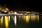 Night city near sea. Ukraine, Black sea, Yalta — Stock Photo