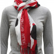 Stockfoto: Pied scarf with fringe