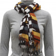 Stockfoto: Varicolored scarf with fringe