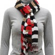 Stock Photo: Motley scarf with fringe