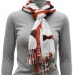 Stock Photo: Mottled scarf with fringe