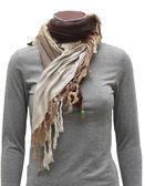 Beige fringe scarf — Stock Photo