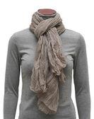Beige scarf — Stock Photo