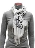 White scarf — Stock Photo