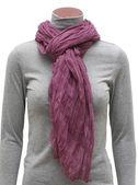 Dark pink scarf — Stockfoto