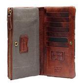 Brown woman wallet — Stockfoto