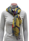 Variegated print scarf — Stock Photo