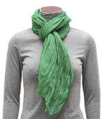 Green scarf — Stock Photo