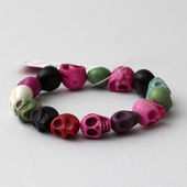 Colorful Skull bracelet — Stock Photo