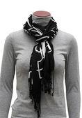 Black ornament scarf — Stock Photo