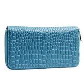 Blue woman wallet — Stock Photo