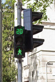 Green pedestrian traffic light — Stock Photo
