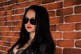 Rocker-Mädchen — Stockfoto