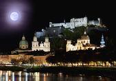 Salzburg at night — Stock Photo