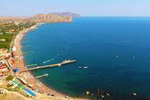 Beach of Sudak — Stock Photo