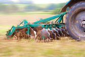 Ploughing the field — Stock Photo