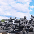 Memorial to Soviet soldiers during WW2 — Stock Photo