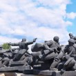 Memorial to Soviet soldiers during WW2 - Stock Photo