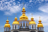 Domes of St. Michael cathedral — Stock Photo