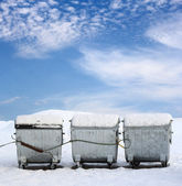 Garbage containers — Stock Photo