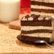 Tiramisu with milk - Stock Photo