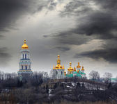 Pechersk Lavra in stormy weather — Stock Photo