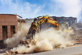 Building demolition — 图库照片