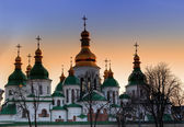 Domes of Saint Sophia Cathedral — Stock Photo