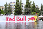 Red bull flugtag preparation — Stock Photo