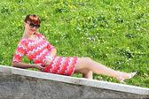 Garota relaxante — Foto Stock