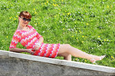 Girl relaxing — Stock fotografie