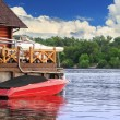 Red boat — Stockfoto #26527903