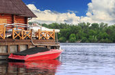 Red boat — Stockfoto