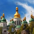 Domes of St Sophia Cathedral — Stock Photo