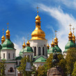 Domes of St Sophia Cathedral — Stock Photo #27639179