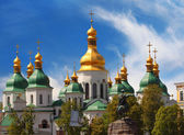 Domes of St Sophia Cathedral — Foto Stock