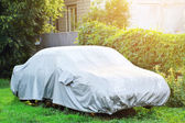 Covered car — Stock Photo